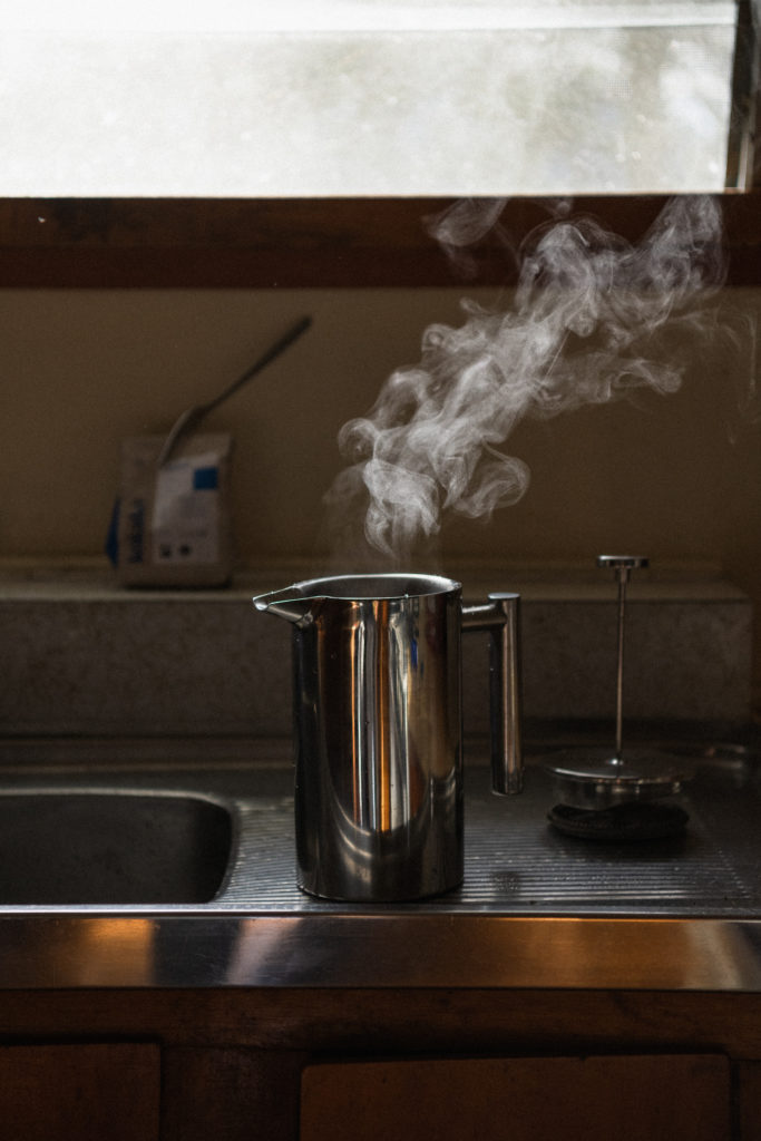 Coffee pot steaming PNG