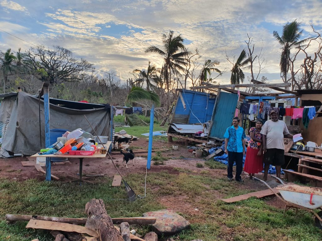 Home destroyed by cyclone